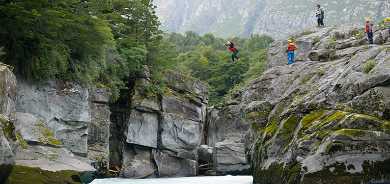 cliff jump  (photo © Carr Clifton)